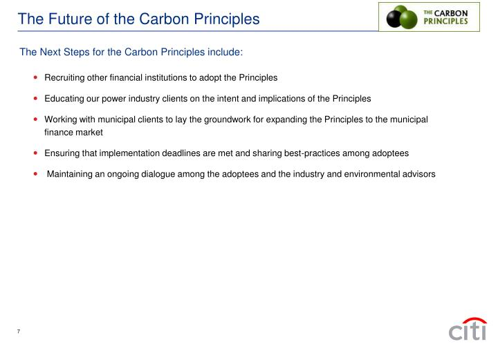 The Future of the Carbon Principles