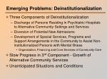 emerging problems deinstitutionalization
