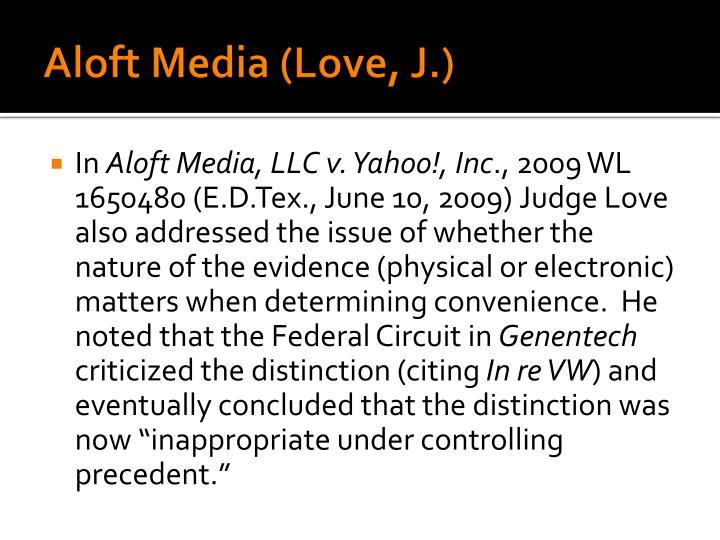 Aloft Media (Love, J.)
