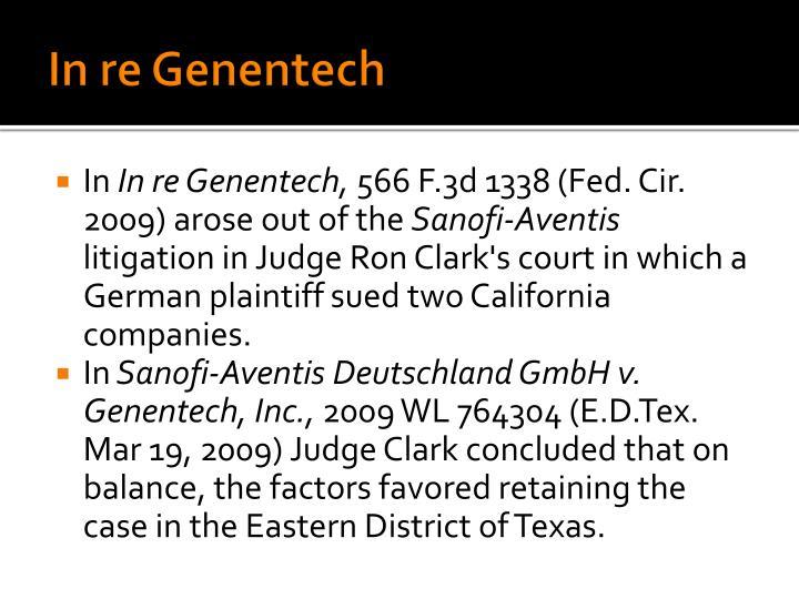 In re Genentech