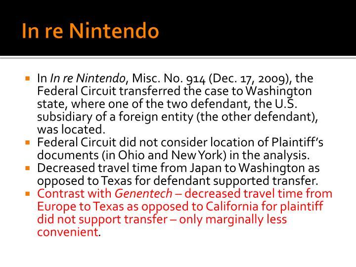 In re Nintendo