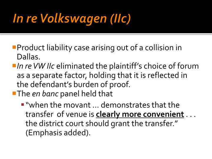 In re Volkswagen (