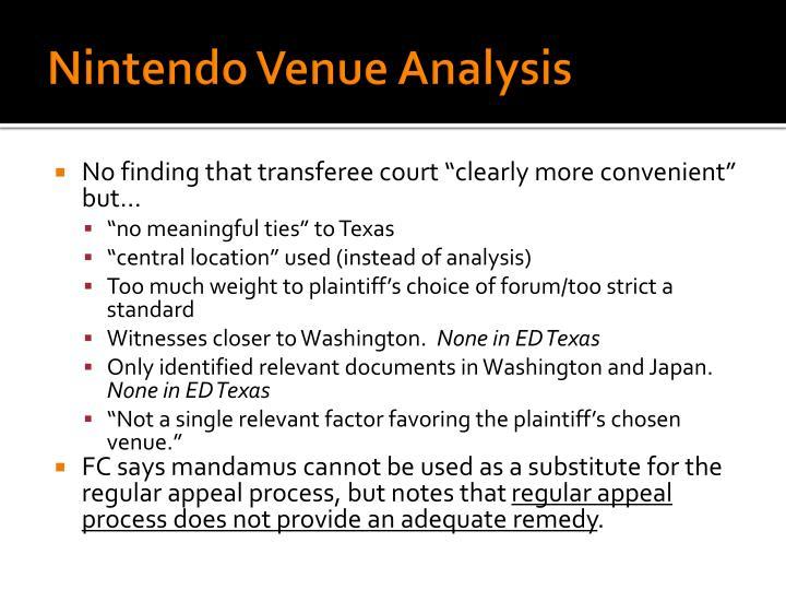 Nintendo Venue Analysis