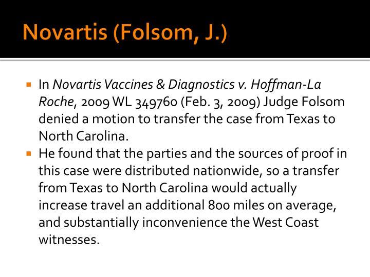 Novartis (Folsom, J.)