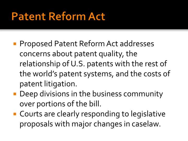 Patent Reform Act