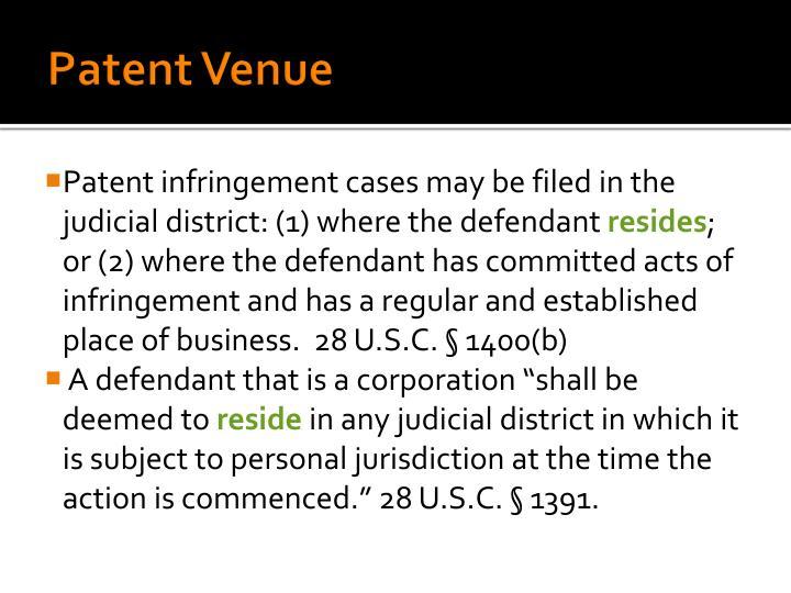 Patent Venue