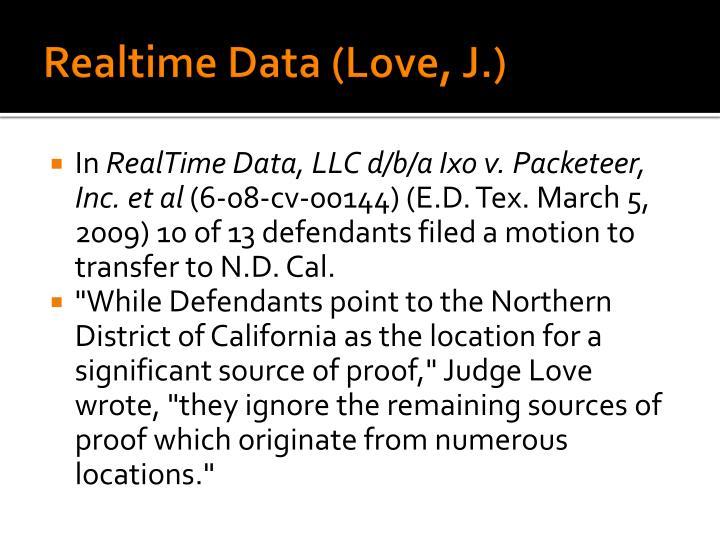 Realtime Data (Love, J.)