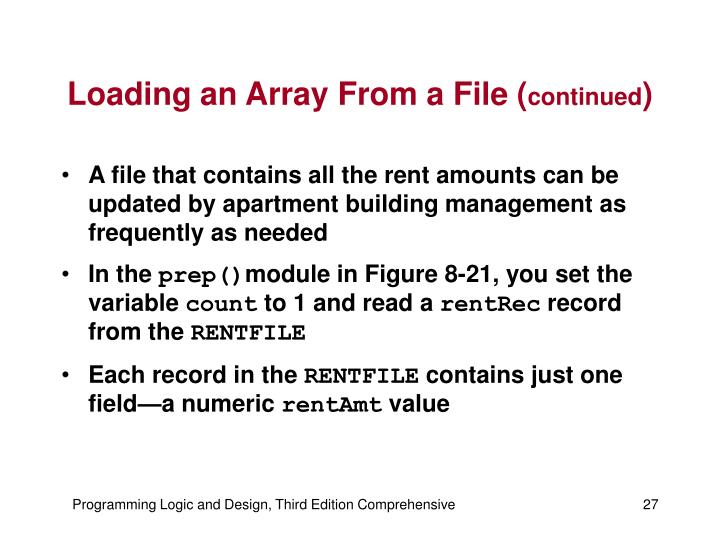 Loading an Array From a File (