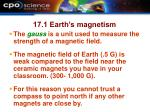 17 1 earth s magnetism1