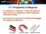17 1 properties of magnets