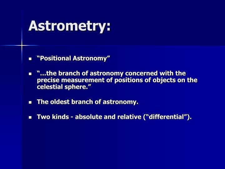Astrometry: