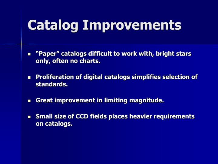 Catalog Improvements
