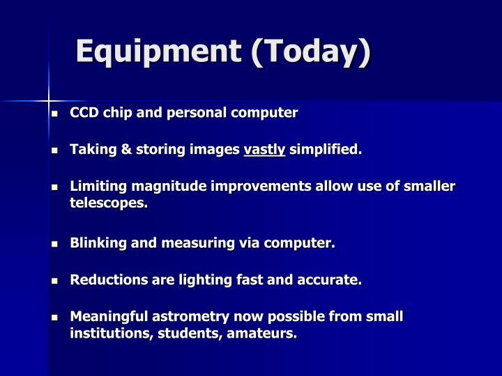 Equipment (Today)