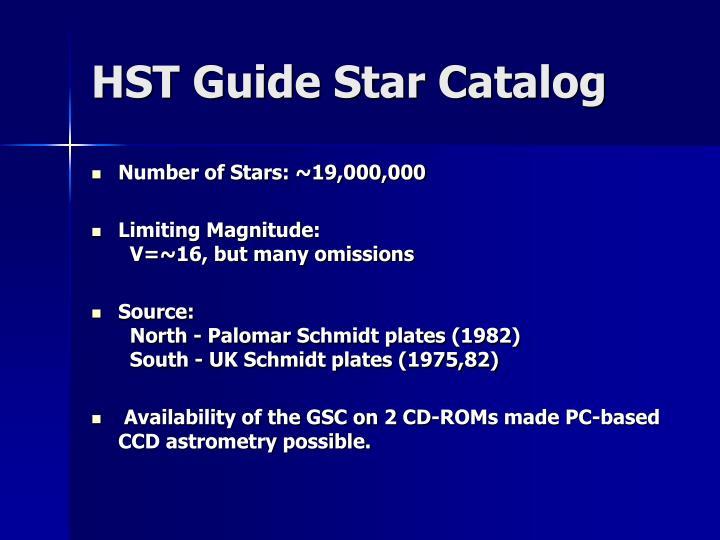 HST Guide Star Catalog
