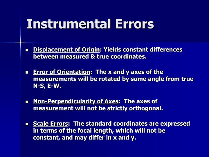 Instrumental Errors