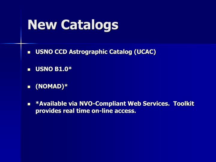 New Catalogs