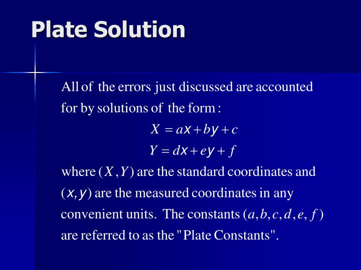 Plate Solution