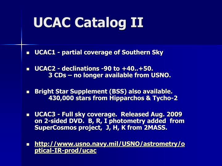 UCAC Catalog II