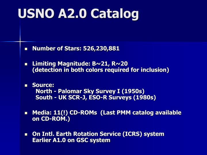 USNO A2.0 Catalog