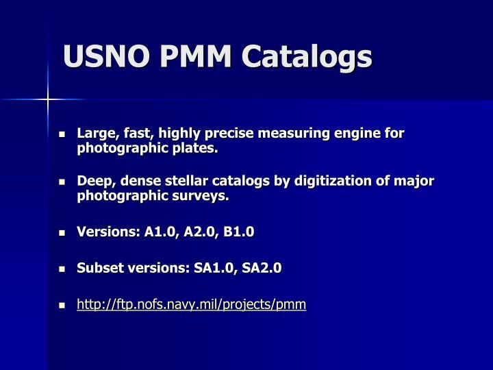 USNO PMM Catalogs