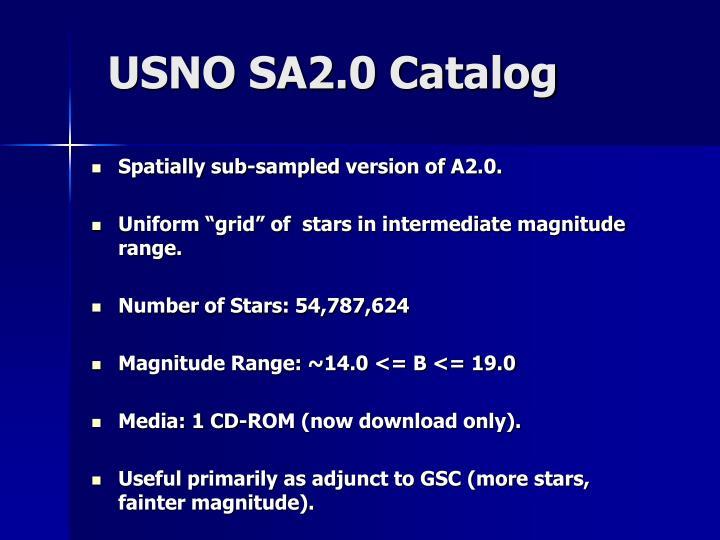 USNO SA2.0 Catalog