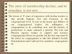 the story of membership decline and its remedies is not new