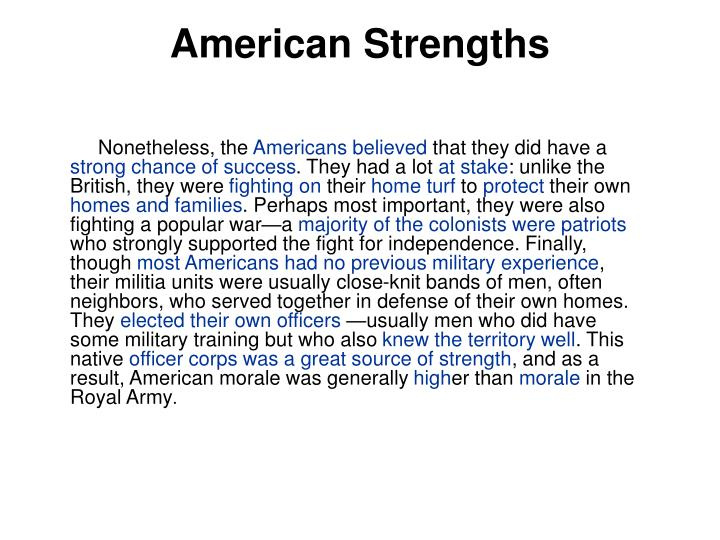 American Strengths