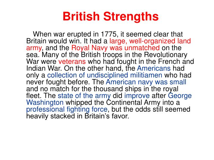 British Strengths