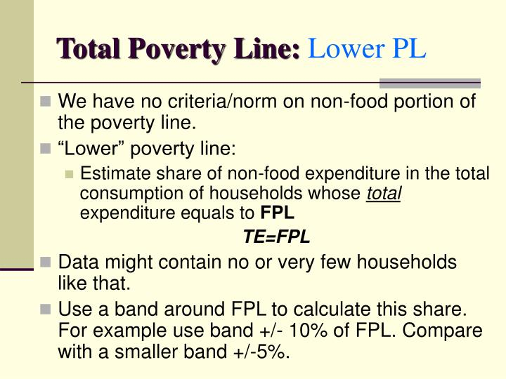 Total Poverty Line: