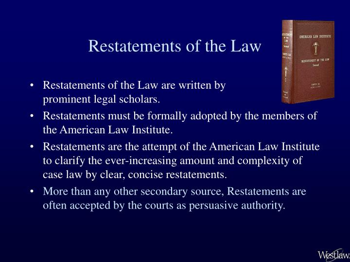 Restatements of the law1