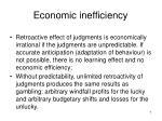 economic inefficiency