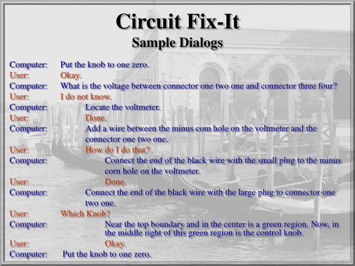Circuit Fix-It