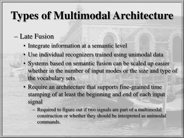 Types of Multimodal Architecture