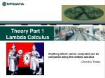 theory part 1 lambda calculus