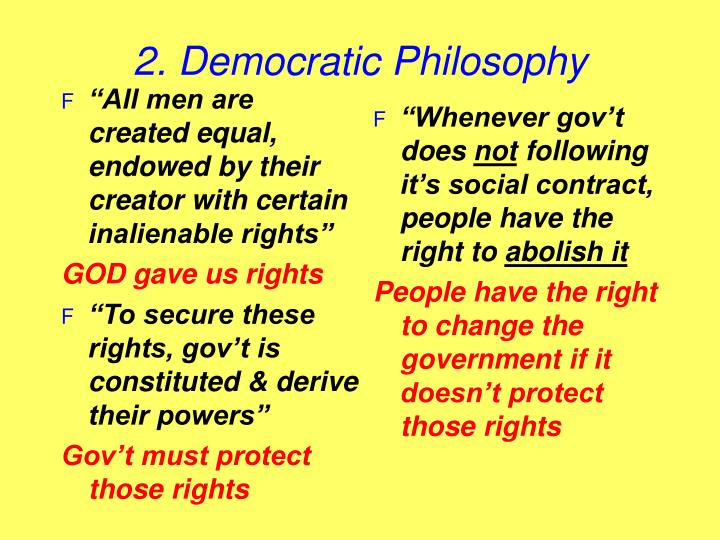 """All men are created equal, endowed by their creator with certain inalienable rights"""