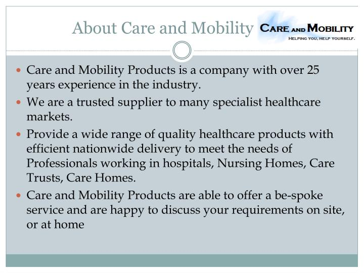 About care and mobility