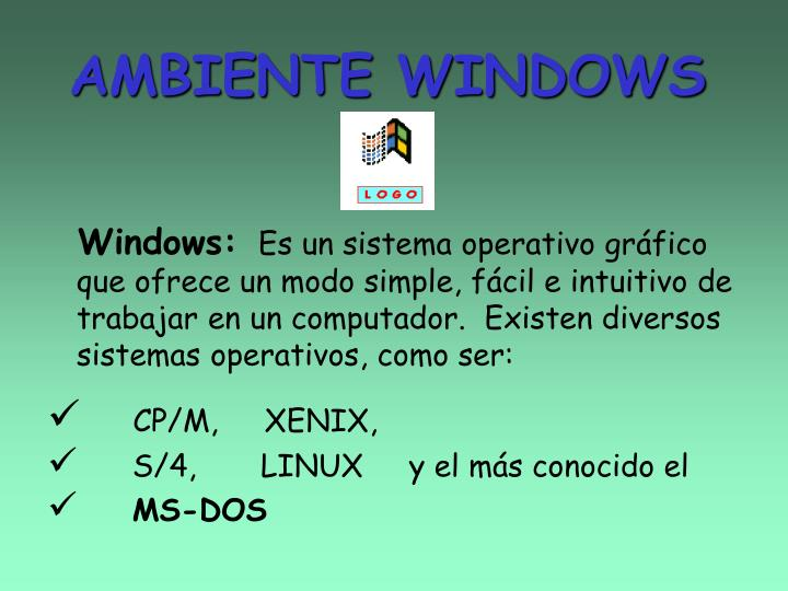 ambiente windows n.