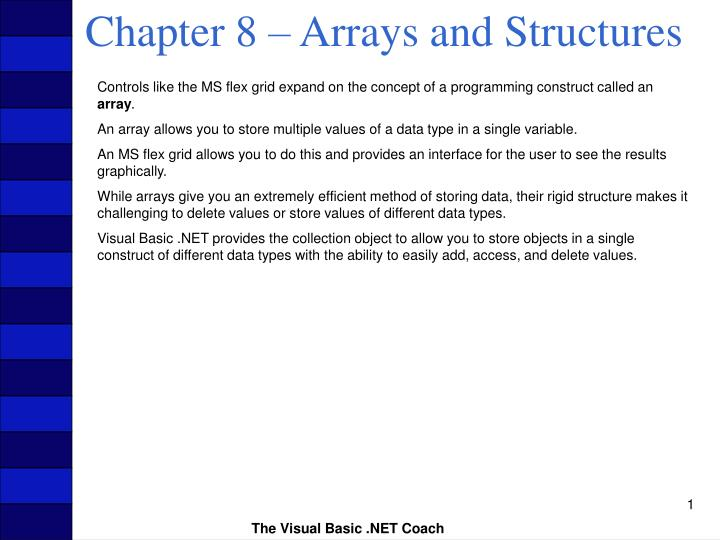 chapter 8 arrays and structures