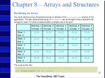 chapter 8 arrays and structures26