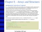 chapter 8 arrays and structures63