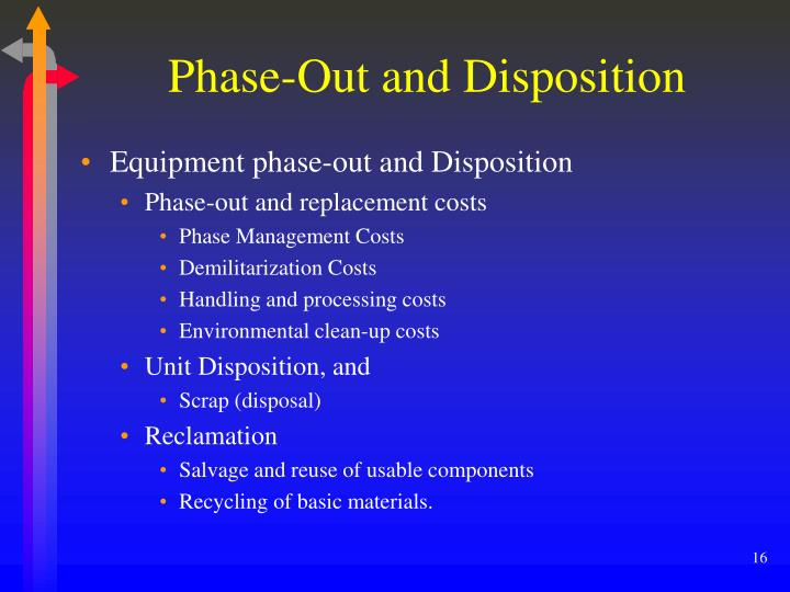 Phase-Out and Disposition