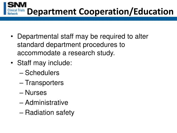 Department Cooperation/Education