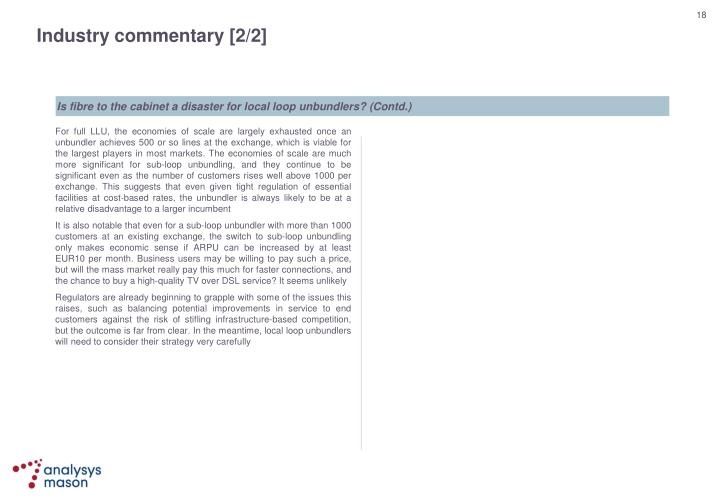 Industry commentary [2/2]