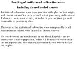 handling of institutional radioactive waste including disused sealed sources