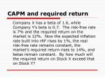 capm and required return1