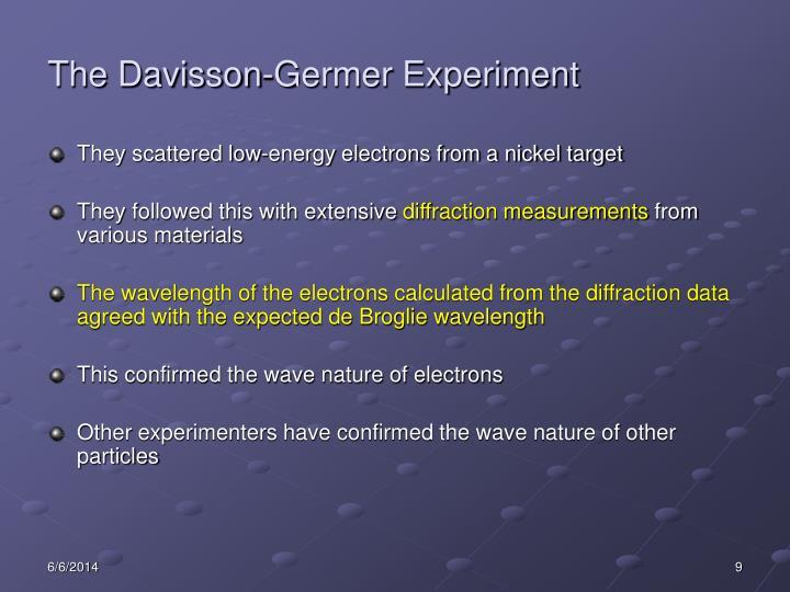 The Davisson-Germer Experiment