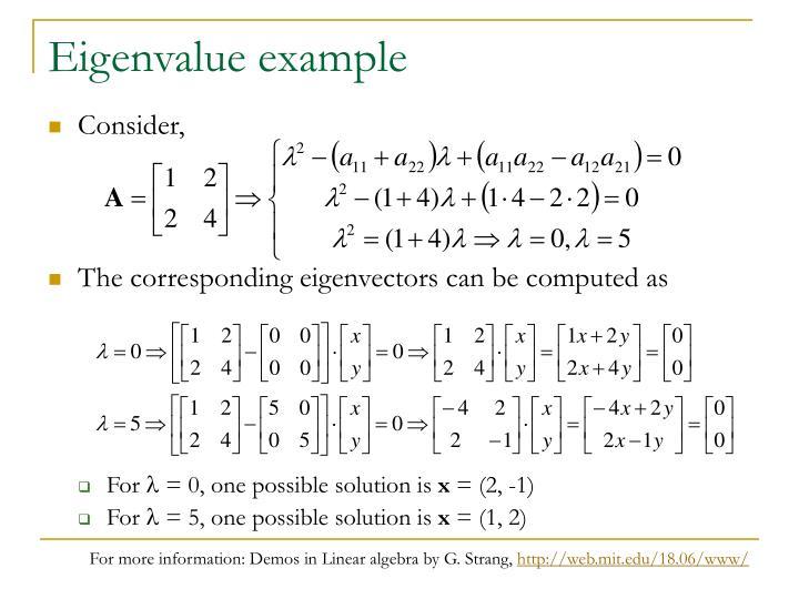 Eigenvalue example