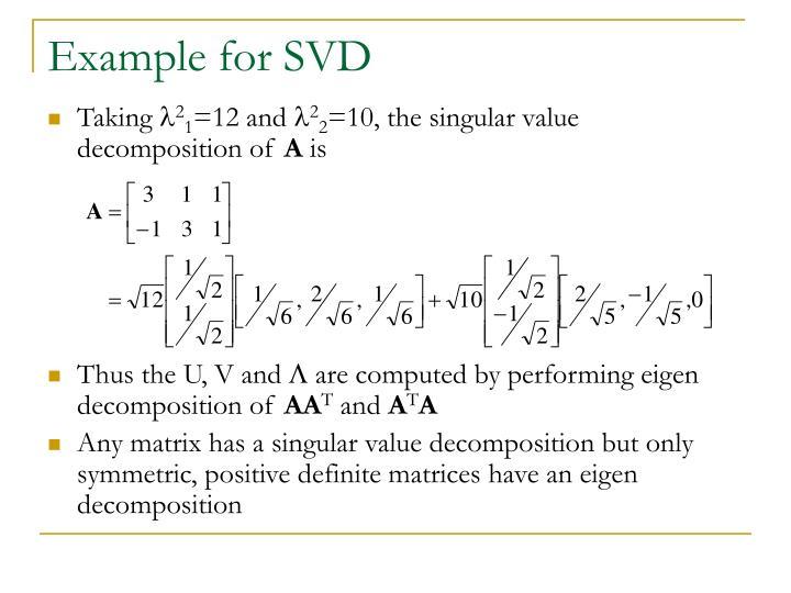 Ppt Eigen Decomposition And Singular Value Decomposition