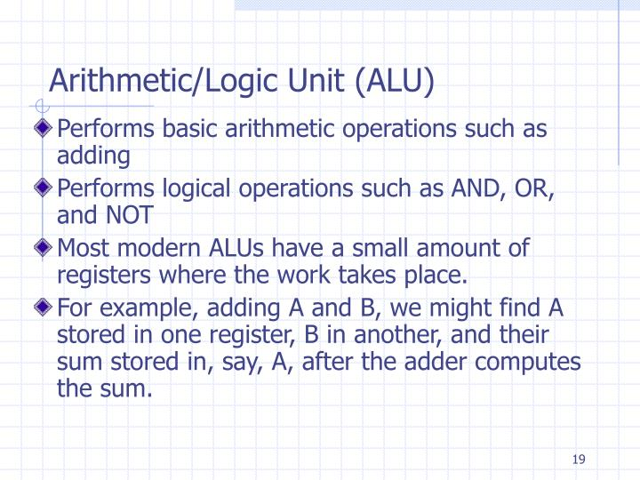 Arithmetic/Logic Unit (ALU)
