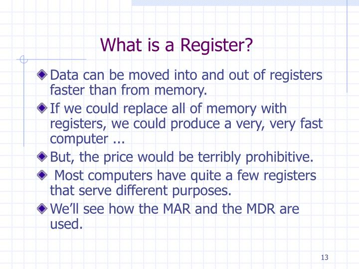 What is a Register?